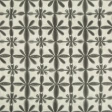 Charcoal/Light Grey Ethnic Drapery and Upholstery Fabric by Kravet
