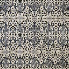 Indigo Ethnic Drapery and Upholstery Fabric by Pindler