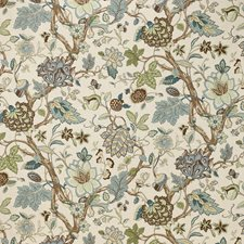 Seamist Jacobeans Drapery and Upholstery Fabric by Laura Ashley