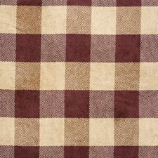 Claret Check Drapery and Upholstery Fabric by G P & J Baker