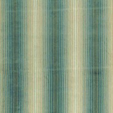 Teal/Aqua Stripes Drapery and Upholstery Fabric by Baker Lifestyle
