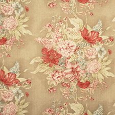 Rose/Green Print Drapery and Upholstery Fabric by Baker Lifestyle