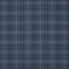 Blue Check Drapery Fabric By Ralph Lauren
