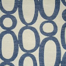Blue/Offwhite/White Traditional Drapery and Upholstery Fabric by JF