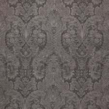 Charcoal/Taupe/Metallic Damask Drapery and Upholstery Fabric by Kravet