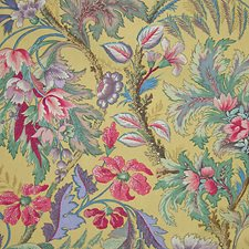 Multi/Yellow Drapery and Upholstery Fabric by Scalamandre