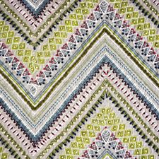 Green/Multi Transitional Drapery and Upholstery Fabric by JF