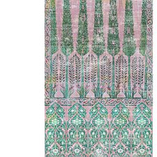 Green Pink Drapery and Upholstery Fabric by Scalamandre