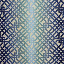 Teal Lattice Drapery and Upholstery Fabric by Groundworks