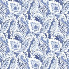 China Blue Drapery and Upholstery Fabric by RM Coco