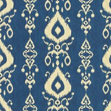 Beige/Blue Ethnic Drapery and Upholstery Fabric by Kravet