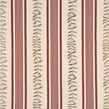 Red Embroidery Drapery and Upholstery Fabric by Baker Lifestyle