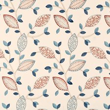 Blue/Cream Embroidery Drapery and Upholstery Fabric by Baker Lifestyle