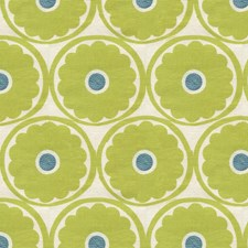 Lime Botanical Drapery and Upholstery Fabric by Kravet