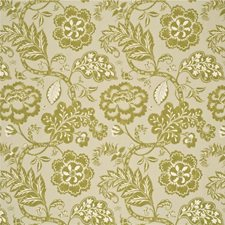 Lime Botanical Drapery and Upholstery Fabric by Baker Lifestyle
