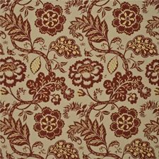 Red Print Drapery and Upholstery Fabric by Baker Lifestyle
