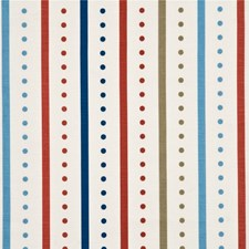 Red/Blue Print Drapery and Upholstery Fabric by Baker Lifestyle