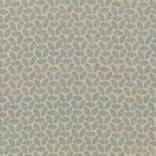 Soft Blue Animal Drapery and Upholstery Fabric by Baker Lifestyle