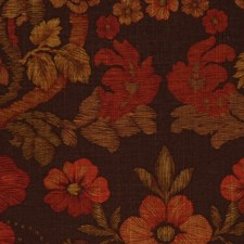Walnut/Red Drapery and Upholstery Fabric by RM Coco