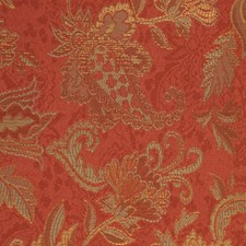Terracotta Drapery and Upholstery Fabric by RM Coco