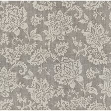 Grey/Ivory Botanical Drapery and Upholstery Fabric by Kravet