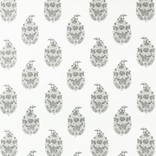 Pewter Paisley Drapery and Upholstery Fabric by Kravet