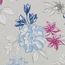Blueberry Floral Large Drapery and Upholstery Fabric by Duralee
