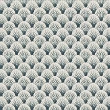 Blue/White Tropical Drapery and Upholstery Fabric by Kravet