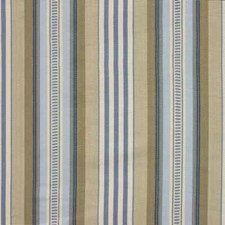 Blue/Cream Stripes Drapery and Upholstery Fabric by Baker Lifestyle