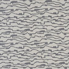 Navy/Cream Stripe Drapery and Upholstery Fabric by JF