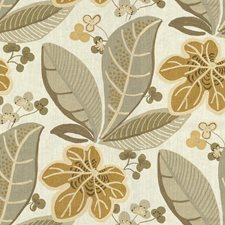 Pelican Botanical Drapery and Upholstery Fabric by Kravet