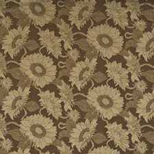 Ochre Botanical Drapery and Upholstery Fabric by Mulberry Home