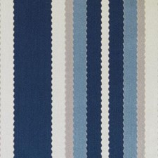 Blue Stripe Drapery and Upholstery Fabric by Duralee