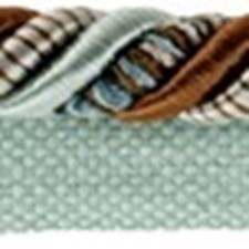 Cord With Lip Light Blue/Brown/Gold Trim by Kravet