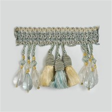 Tassel Fringe Light Blue/Beige Trim by Kravet