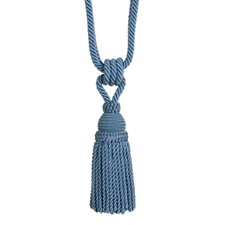 Tassel Tieback-Single Canton Blue Trim by Brunschwig & Fils