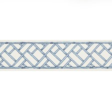 Tapes French Blue Trim by Brunschwig & Fils