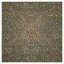 Green/Burgundy/Red Paisley Drapery and Upholstery Fabric by Kravet