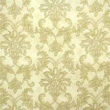Beige/Green Damask Drapery and Upholstery Fabric by Kravet