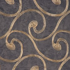 White/Gold Drapery and Upholstery Fabric by RM Coco
