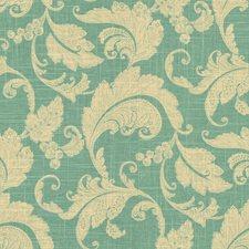 Light Blue/White Botanical Drapery and Upholstery Fabric by Kravet