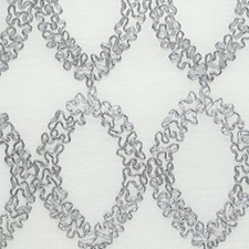 Silver/White Drapery and Upholstery Fabric by RM Coco