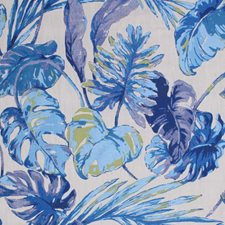Grotto Blue Drapery and Upholstery Fabric by RM Coco