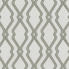 Grey Ogee Drapery and Upholstery Fabric by JF
