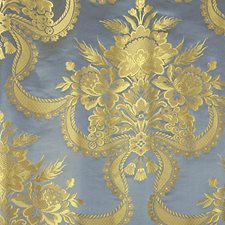 Blue Jay Damask Drapery and Upholstery Fabric by Scalamandre