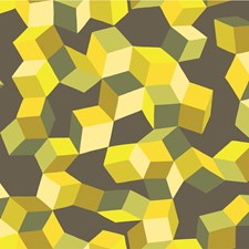 Yellow and Black Print Wallcovering by Cole & Son Wallpaper