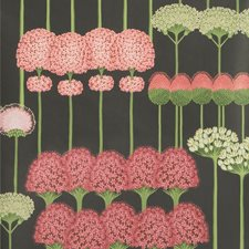 Coral/L Green/Char Print Wallcovering by Cole & Son Wallpaper