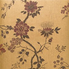 Crimson/Mtl Gold Print Wallcovering by Cole & Son Wallpaper