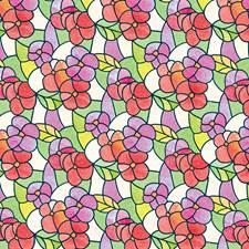 338-0017 Pansies Red Window Film by Brewster
