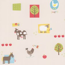 Red Kids Wallpaper Wallcovering by Brewster